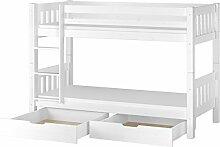 Erst-Holz® Kinderetagenbett Kiefer massiv weiß
