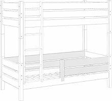 Erst-Holz® Kindersicherung Rausfallschutz Weiß für Etagenbetten Modell 60.16 für Untere Liegefläche Kisi 16 W