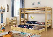Erst-Holz® Kinderzimmer Etagenbett Kiefer 90x200