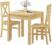 Erst-Holz® Massivholz-Essgruppe mit Tisch und 2