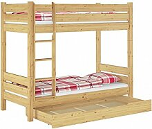 Erst-Holz® Massivholz-Etagenbett 90x200 Stockbett