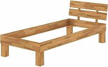 Erst-Holz® Massivholzbett Buche Natur Einzelbett