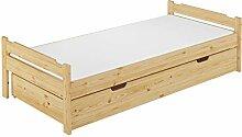 Erst-Holz® Massivholzbett Kiefer Natur 90x200
