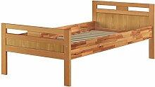 Erst-Holz® Massivholzbett Seniorenbett Buche