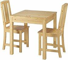 Erst-Holz® Schöne Essgruppe mit Tisch und 2