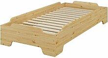 Erst-Holz® Stapelbett 90x190 stabiles Gästebett
