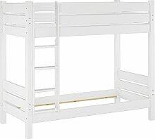 Erst-Holz® Stockbett für Erwachsene weiß 90x200