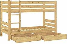 Erst-Holz® Teilbares Etagenbett Massivholz Kiefer