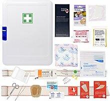 Erste-Hilfe-Schrank für 10 Personen (Arbeitscode