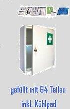 Erste-Hilfe-Schrank weiß mit Füllung DIN 13157