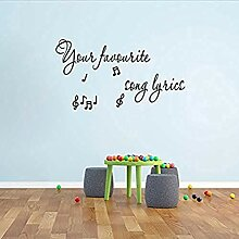 Erstellen Sie Ihre eigenen Lyrics Lyrics Wandkunst