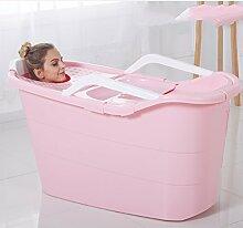 Erwachsene Isolierung Kunststoff Badewanne Fass Erwachsene Isolierung Badewanne extra große Kinder dicke Fass Eimer ( Color : Pink )