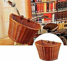 Erwachsenen Fahrradkorb Wicker vorne Lenker