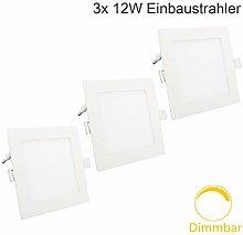 Erwei 12W LED Panel Dimmbar Einbaustrahler