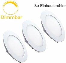 Erwei 3er 18W Rund LED Panel Dimmbar