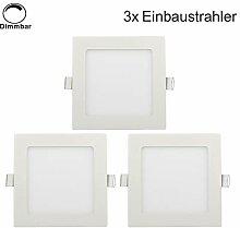 Erwei 3er 6W Quadratisch LED Panel Dimmbar