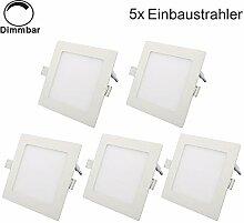 Erwei 5er 15W Quadratisch LED Panel Dimmbar