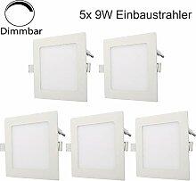 Erwei 5er Set 9W LED Panel Dimmbar Einbaustrahler
