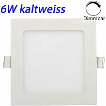 Erwei 6W LED Panel Dimmbar Einbaustrahler