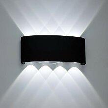 Erwei 8W LED Wandleuchte Innen & Außen Kaltweiß