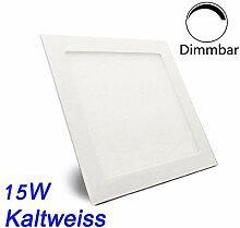 ERWEY 15W Kaltweiß Eckig LED Panel Dimmbar
