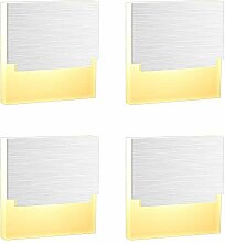 ERWEY 4x 3W LED Treppenbeleuchtung Warmweiß LED