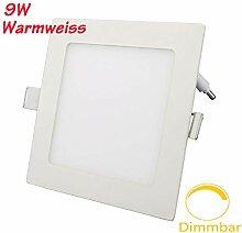 ERWEY 9W Quadratisch LED Panel Dimmbar Warmweiß