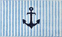 Erwin Müller Badematte hellblau Größe rund: 80 cm Ø