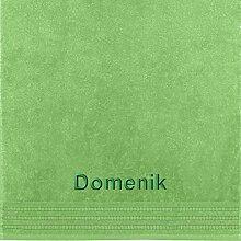Erwin Müller Handtuch mit Namen Domenik Bestickt