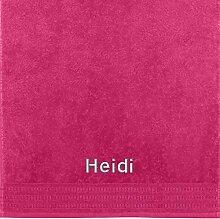 Erwin Müller Handtuch mit Namen Heidi Bestickt