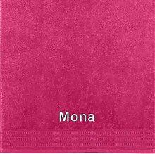 Erwin Müller Handtuch mit Namen Mona Bestickt
