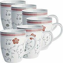 Erwin Müller Kaffeebecher 6er-Pack Porzellan