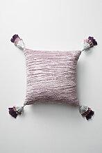 Eryn Samtkissen mit Quasten - Lavender