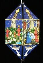 Erzgebirgische Weihnachtslaterne Christi Geburt