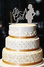 Es ist ein Mädchen Cake Topper, Baby Bump Cake