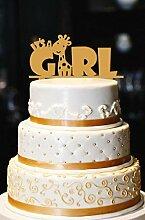 Es ist ein Mädchen Cake Topper, Giraffe Cake