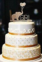 Es ist ein Mädchen Cake Topper, Holz Cake Topper,