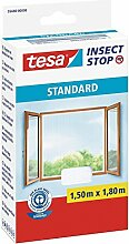 esa Fliegengitter für Fenster Standard, leichter Sichtschutz, 1,5m x 1,8m (2er Pack, weiß)