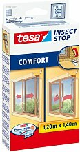 esa Insect Stop 55188, Mücken, Fliegen &Fliegengitter, Schärpe, außen öffnende Fenster 1.2mx1, 4 m, Weiß