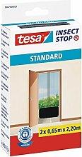 esa® Insect Stop Fliegengitter STANDARD für Türen 2x 0,65m x 2,20m (4er Spar-Pack, Anthrazit)
