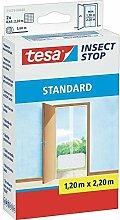 esa® Insect Stop Fliegengitter STANDARD für Türen 2x 0,65m x 2,20m (3er Pack, Weiß)