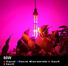 eSavebulbs Pflanzenlampe E27 80W LED Pflanzenlampe für Zimmerpflanzen, Blumen und Gemüse 360 Degree Lighting
