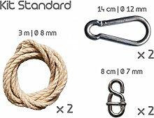 escuderos eur00093Standard Kit Hängematte Poly Hanf/Metall ecru 20x 10x 5cm