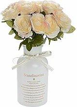 Eseres Künstliche Seidenblumen Brautstrauß für