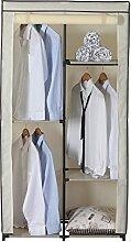 eSituro SCC0015 Kleiderschrank Stoffkleiderschrank