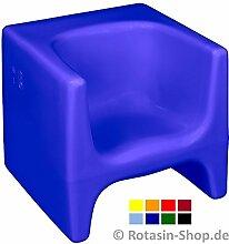 esku® Wendehocker / Kinderhocker / Hocker verschiedene Farben (blau)