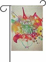 Eslifey Aquarell Paris Doppelseitige
