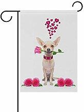 Eslifey Chihuahua mit Rose, doppelseitig,