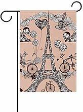 Eslifey Eiffelturm doppelseitige Familienflagge