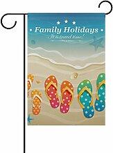 Eslifey Familienflagge für Strand, Urlaub,